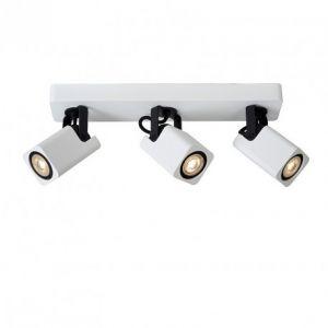 Lucide Triple spot orientable Roax H16 cm - Blanc