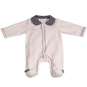 Sauthon Miss Chipie pyjama en velours - Rose - 1 mois