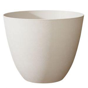 Poetic Pot Element rond de 47,8 L coloris calcaire Ø 48 x 38 cm