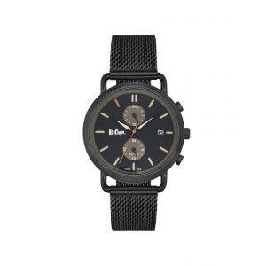 Lee Cooper Montre LC06710.650 - Montre Multifonctions Bracelet Milanais Noir Homme