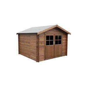 Decor et jardin 78457SX00 - Abri de jardin en bois massif traité 34 mm 8,88 m2