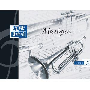 Oxford Cahier de musique 6 portées - 17x22cm - 16 pages - 90g