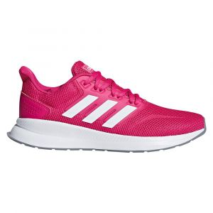 Adidas Falcon, Chaussures de Running Femme, Rouge Real Magenta/FTWR White/Grey Three f17, 41 1/3 EU