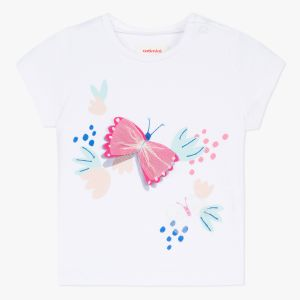 Catimini T-shirt à motif papillon Blanc - Fille