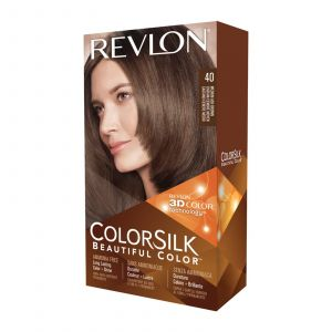 Revlon Colorsilk 40 châtain cendré moyen - Coloration permanente sans amoniaque