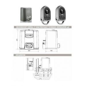 Somfy Automatisme Motorisation portail coulissant ELIXO 500 3S 230V pack standard RTS - 1216367.