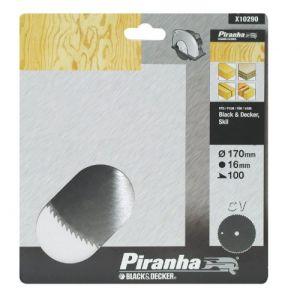 Piranha X10290 Lame circulaire 100 dents 170 x 16 mm