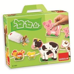 Goula Laçage mamans et bébés animaux de la ferme