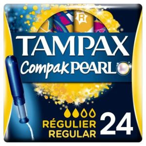 Tampax Compak tampon pearl regular regulier / boîtes de 24