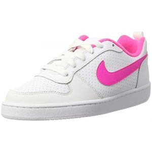 Nike Court Borough Low (GS), Baskets Fille, Blanc (White/Pink Blast), 37.5 EU