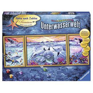 Ravensburger Peinture au numéro - Triptyque : Vie sous-marine