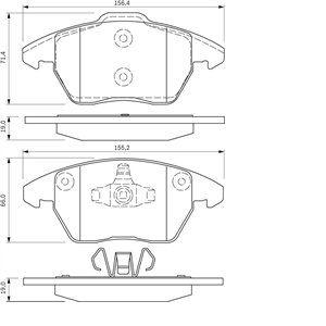 Bosch BP963 - 4 Plaquettes de frein Avant