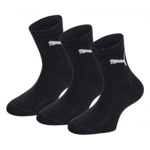 Puma Chaussettes de sport - Uni - Lot de 3 - noir - X-Large