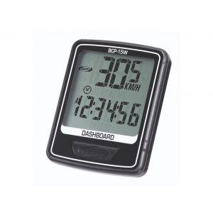BBB cycling Compteur ''DASHBOARD'' 10 fonctions sans fil Noir BCP-15W