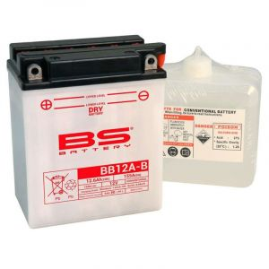 BS Battery Batterie BS YB12A-B AVEC ACIDE