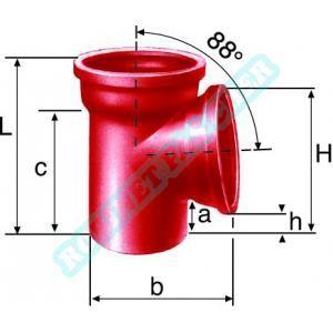Culotte simple SME 8730 en fonte diamètre nominal 100-100mm PAM