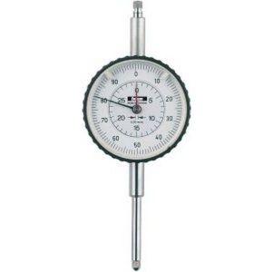 Forum Comparateur à grand &Oslash de boîtier, grande capacité de mesure, &Oslash extérieur : 58 mm, Lecture 0,01 mm, Plage de mesure 30 mm, 1 tour d'aiguille : 1,0 mm