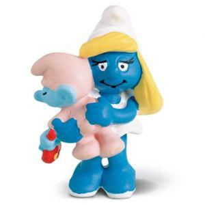 Schleich 20192 - Figurine Schtroumpfette avec bébé