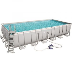 Bestway Kit piscine rectangulaire power steel frame - 732 x 366 x 132 cm - gri