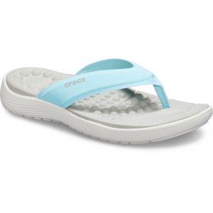 Crocs Reviva Flip Sandals Women, ice blue/white EU 36-37 Tongs
