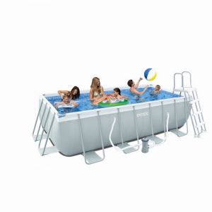 Intex 28316 - Piscine tubulaire rectangulaire 400 x 200 x 100 cm
