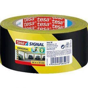 Tesa Ruban adhésif de signalisation Noir/Jaune