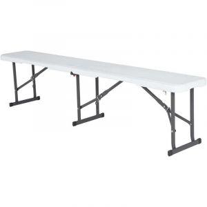 Lifetime Table pliante + 2 bancs résine pliants -