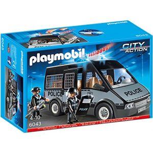 Playmobil 6043 City Action - Voiture de patrouille de la police avec son et lumière