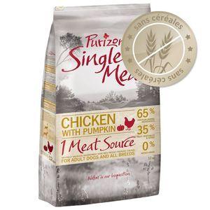 Purizon Single Meat Adult - Croquettes poulet, potiron sans céréales pour chien - 1 kg