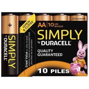 Duracell Simply MN1500 - Batterie 10x AA Alkalisch