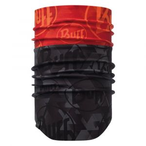 Buff Windproof Neckwarmer Tip Logo Orange Fluor Tours de cou Noir - Taille TU