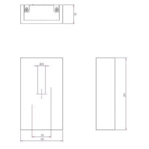 Astro Applique rectangulaire LED Rio 125 plâtre H21 cm - Blanc
