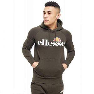 ELLESSE Eh H Hoodie Uni Capuche Kaki, Sweat-Shirt - L