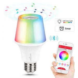 Sengled Solo Color Plus Ampoule LED E27 avec Haut Parleur Bluetooth - RGB LED Changement de Couleur - Lampe Ambiance Contrôlée par APP - Fonctionner avec Amazon Alexa - Lot de 1