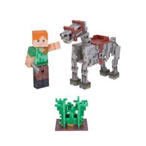 Minecraft - 16601 - Figurines Articulées - Alex et Son Cheval Squelette ( Neuf )