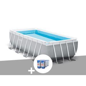 Intex Kit piscine tubulaire Prism Frame rectangulaire 4,00 x 2,00 x 1,00 m + 6 cartouches de filtration
