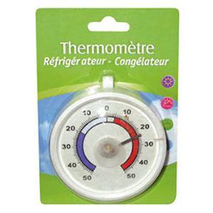 Inovalley Thermomètre rond pour réfrigérateur et congélateur