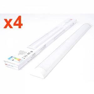 Silamp Réglette LED 36W 120cm (Pack de 4) - couleur eclairage : Blanc Froid 6000K - 8000K