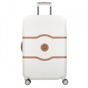 Delsey Valise Chatelet Air 67 cm Taille M 4 doubles roues Blanc