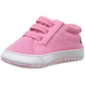 Lacoste L.12.12 Crib 318 1 Cab, Chaussures de Naissance Mixte bébé, Rose