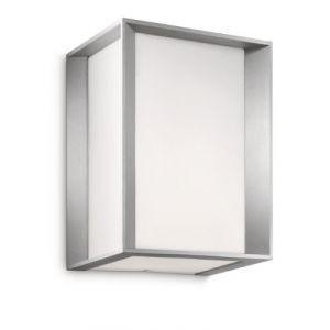Philips 171838716 Ecomoods - Applique, Lumière Blanche Chaude D'économie D'énergie 14 W, 20.2 x 15.2 x 13.2 cm Ampoules Inclus, Gris