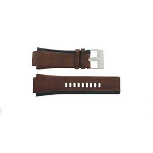 Diesel Bracelet de montre DZ-1092 Cuir Brun 22mm