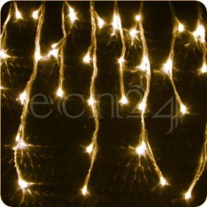 Fdl Guirlande stalactite LED 8m, lumière statique blanc chaud