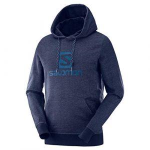 Salomon Sweatshirts Logo Hoodie - Night Sky - Taille M