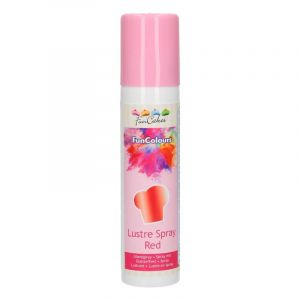 Spray lustrant alimentaire rouge Funcakes