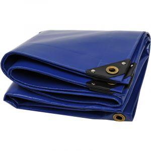 Nemaxx Bâche Premium PLA34 300x400 cm - Bleu avec Oeillets, 650 g/m² PVC, abri, Toile de Protection - étanche, résistante, 12m²