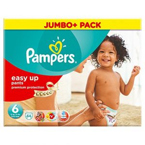 Pampers Easy Up taille 6 (+15 kg) - Mega Pack 64 couches
