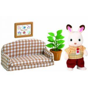 Epoch 5013 - Papa lapin chocolat avec son salon Sylvanian Family