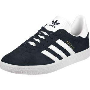 Adidas Gazelle, Baskets Basses Mixte Adulte, Bleu (Collegiate Navy/Footwear White/Footwear White), 38 2/3 EU