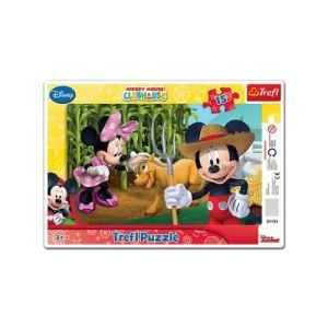 Trefl Puzzle cadre: Mickey 15 pièces